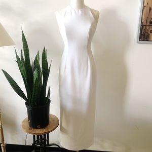 Cache vintage 90s white midi dress bridal